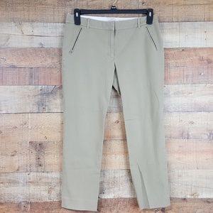 J.Crew Stretch Pants Womens Size 10S Beige Zip Poc